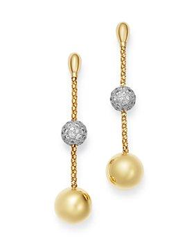 Bloomingdale's - Diamond Bead Drop Earrings in 14K Yellow Gold, 2.2 ct. t.w. - 100% Exclusive