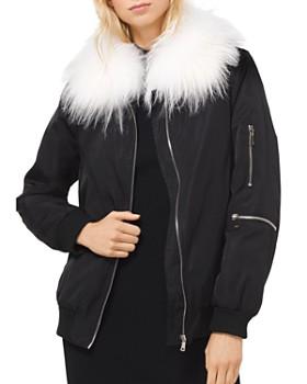 10c04bc02947 MICHAEL Michael Kors - Goat Hair Collar Bomber Jacket ...