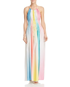 A Mere Co. - Neva Rainbow Ombré Maxi Dress