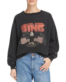 12cd2040f3957 Anine Bing - Vintage Eagle-Graphic Sweatshirt ...