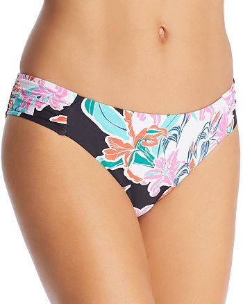 Trina Turk - Tropic Wave Shirred Hipster Bikini Bottom