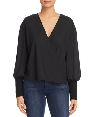MARLED Bishop Sleeve Blouse in Black