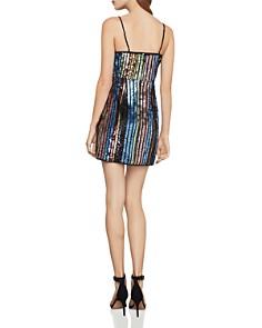 BCBGMAXAZRIA - Sequin Rainbow Stripe Dress