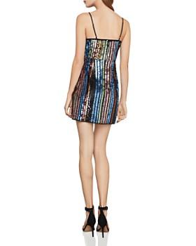 BCBGMAXAZRIA - Eve Sequin Rainbow Stripe Dress