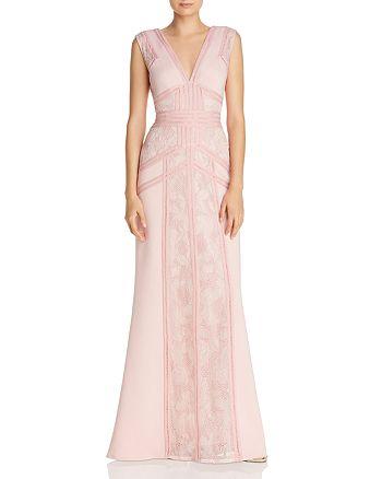 Tadashi Shoji - Paneled Lace Gown