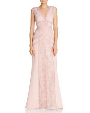 Tadashi Shoji Paneled Lace Gown