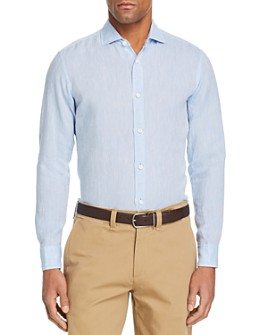 Z Zegna - Washed Linen Regular Fit Button-Down Shirt - 100% Exclusive