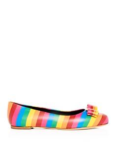 Salvatore Ferragamo - Women's Varina Rainbow Stripe Flats