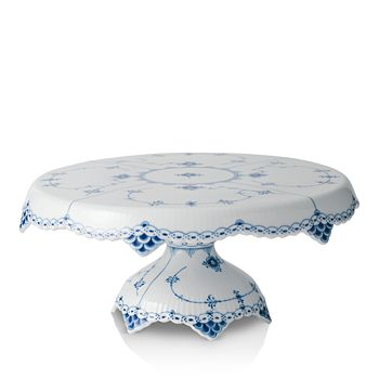 Royal Copenhagen - Blue Fluted Half Lace Cake Stand
