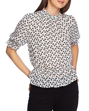 1.state Floral Print Ruffle Top