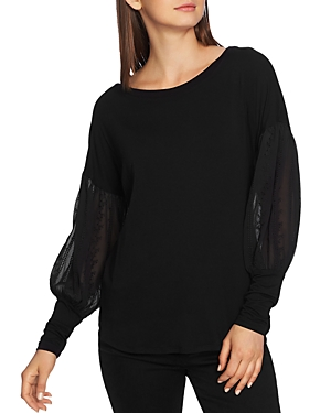 1.state Embroidered Sleeve Sweater
