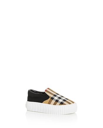 Burberry - Unisex Erwin Vintage Check Slip-On Platform Sneakers - Walker, Toddler