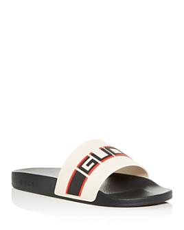 Gucci - Men's Logo Stripe Slide Sandals