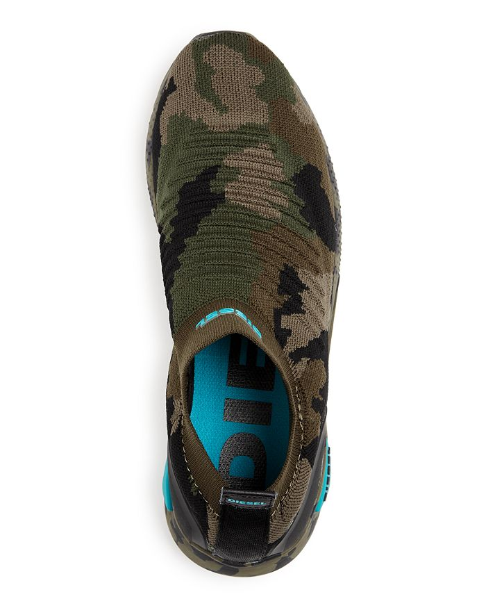 dea37d60f Diesel Men's S-KB Camo Print Knit Mid-Top Sneakers | Bloomingdale's