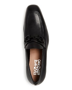 Salvatore Ferragamo - Men's Asten Leather Apron-Toe Loafers