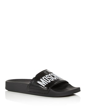1568a1fcf Moschino - Women's Logo Slide Sandals ...