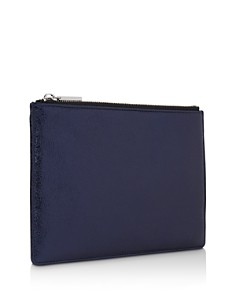 Whistles - Small Metallic Leather Clutch