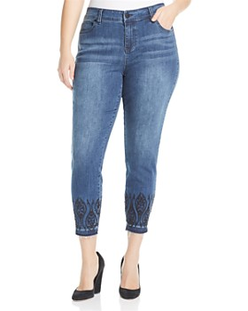 Liverpool Plus - Liverpool Plus Abby Embroidered Ankle Jeans in Montauk Mid Blue