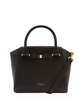 Ted Baker - Janne Bow Detail Pebbled Leather Zip Tote