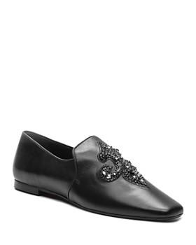 77ffe8774cdc The Kooples - Women s Lili Flower Leather Loafers ...