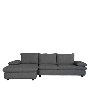 Elevate your environment with this sectional from Chateau d\\\'Ax featuring modern lines and clean, plush cushioning.