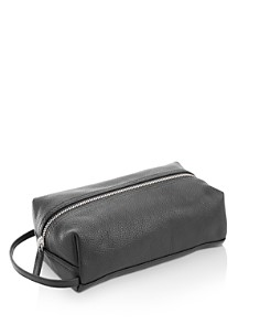 ROYCE New York - Pebbled Leather Compact Toiletry Travel Bag