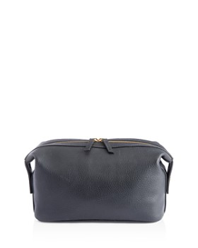 ROYCE New York - Pebbled Leather Side Snap Toiletry Travel Bag