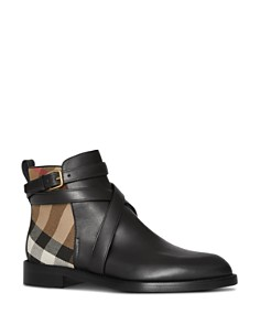 Burberry - Women's House Check Ankle Booties