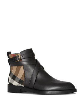 ae23019033e Burberry - Women s House Check Ankle Booties ...