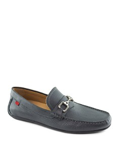 Marc Joseph - Park Ave Grained Leather Loafers
