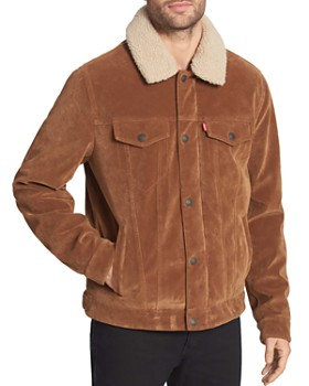 Levi's - Sherpa-Lined Faux-Suede Classic Trucker Jacket