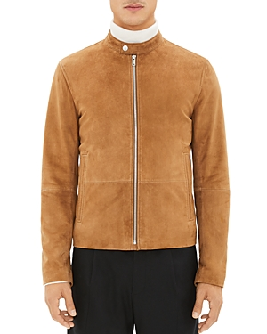 Theory Leathers Wynwood Suede Zip-Front Jacket