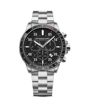 RAYMOND WEIL Tango 300 Chronograph, 43Mm in Black/Silver