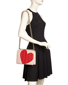 kate spade new york - Heart It Marci Convertible Leather Shoulder Bag