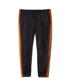 Spiritual Gangster - Girls' Rainbow-Striped Ankle Sweatpants - Little Kid, Big Kid