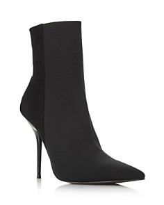 AQUA - Women's Mine Suede & Stretch Stiletto Booties - 100% Exclusive