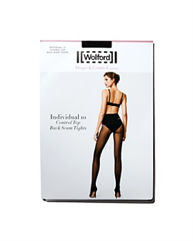 Wolford - Individual 10 Control Top Back-Seam Tights