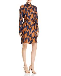 BOSS - Hatarena Geo Silk Belted Dress - 100% Exclusive