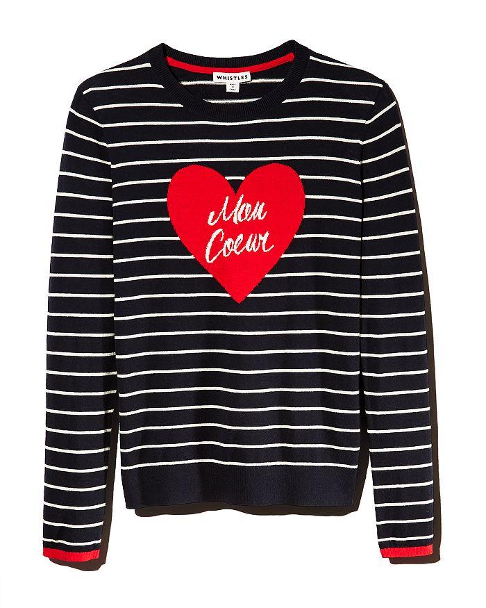 Whistles - Mon Coeur Striped Sweater