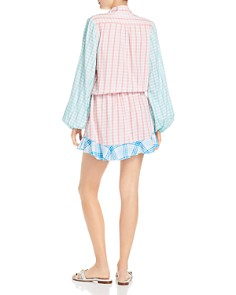Rococo Sand - Plaid Faux-Wrap Mini Dress