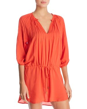 ViX Coral Sara Caftan Swim Cover-Up