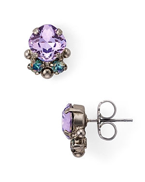 Sorrelli Embellished Cushion-Cut Stud Earrings