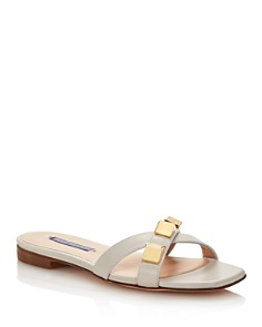 Stuart Weitzman - Women's Cross Studded Sandals