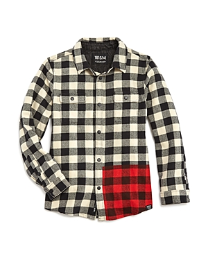 Scotch Shrunk Boys Contrast Flannel Shirt  Little Kid Big Kid