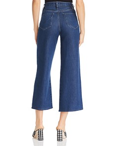 Hudson - Holly Crop Wide-Leg Jeans in Marina