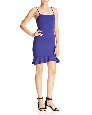 SUNSET & SPRING Sunset + Spring Ruffle-Hem Body-Con Dress - 100% Exclusive in Blue