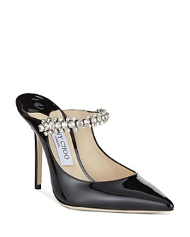 Jimmy Choo - Women's Pat 100 Embellished High-Heel Mules