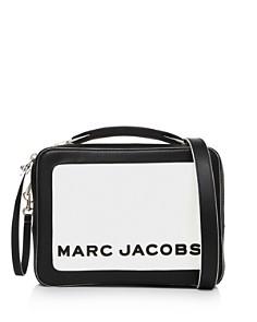 MARC JACOBS - The Box Medium Leather Color-Block Crossbody