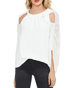 VINCE CAMUTO - Gathered Bow Neck Top