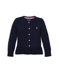 Ralph Lauren - Girls' Cotton Peplum Cardigan - Little Kid